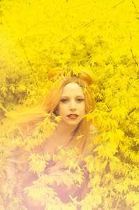 Леди Гага на цветочной полянке