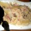 Ризотто с грибами под соусом